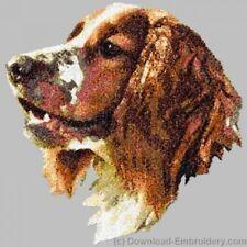 Embroidered Long-Sleeved T-Shirt - Welsh Springer Spaniel Dle2537