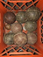 Vintage Sportcraft Bocce Ball Set with Pallino Ball; Made in Italy