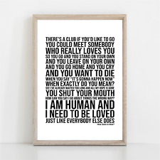 More details for the smiths how soon is now song lyrics poster print wall art