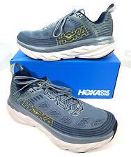 Hoka One One Bondi 6 Men's Size 8.5 Blue/Gray Athletic Running Shoes X7-52