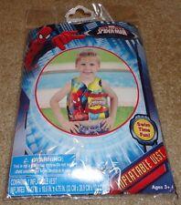 Brand New Spider-Man Inflatable Vest Kids Adjustable Pool Vest w/ Repair Kit