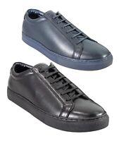 Designer Men's Cavani Pursuit Black Navy Lace Up Casual Trainers Sneakers Shoes