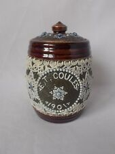 1901 DOULTON LAMBETH LIDDED TOBACCO JAR SIGNED AND DATED