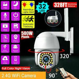 CCTV 5MP 1080P HD IP Camera Waterproof Outdoor WiFi PTZ Security Wireless IR Cam