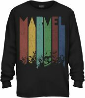 Marvel Color Daze Adult Tee Graphic T-Shirt for Men Tshirt Long Sleeve