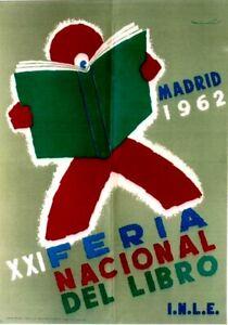 Original vintage poster SPANISH BOOK FAIR MADRID 1962