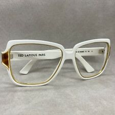 VINTAGE TED LAPIDUS PARIS WOMEN'S OVERSIZED WHITE TL 60 11 - MADE IN FRANCE