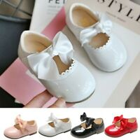 Toddler Infant Kids Baby Girls Butterfly Knot Princess PU Leather Shoes Sandals