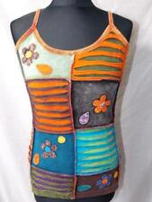 FAIR TRADE HIPPY BOHO ETHNIC FESTIVAL SUMMER STRAPPY COTTON VEST TOP M