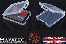 Compact Flash Tarjeta de memoria Soporte Transparente caso Kit De Almacenamiento Caja Cf Sdhc Reino Unido Nuevo