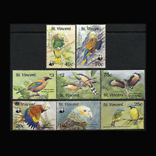 St Vincent, Sc #1184-91, MNH, 1989, Cpl. set, Birds, WWF, BI026F