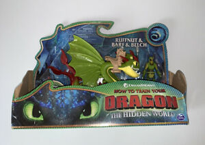How To Train Your Dragon The Hidden World 2 Headed Figure Ruffnut, Bare, Belch