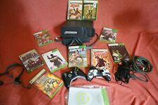 Microsoft Xbox 360 120GB Console 2 controllers,10 games, mic, headphone-  2008