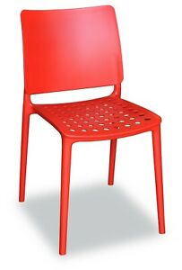 4x Holey Chair - Red - Perfect For Outdoor Dining