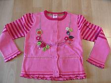 CAKEWALK wunderschöne Strickjacke rosa Blumenapplikation Gr. 116 NEU ST116