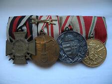 militaria ww1 barrette 4 médailles austro hongroise militaire 14-18 1wk wk1 wwi