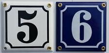 Emaille Email Tür Schild Hausnummer Hausnummern 10x10cm NEU inkl. Schrauben
