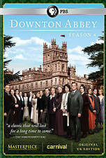 PBS Downton Abbey: Season 4 Four, a 3-Disc DVD Set, 2014,