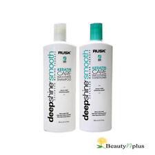 Rusk Deepshine Smooth Keratin Care Smoothing Shampoo and Conditioner 12 oz