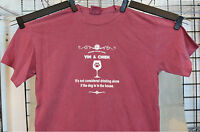Adult Tshirt Dog For Wine Drinking Lovers Gifts Animal Pet USA MADE Vin & Chien