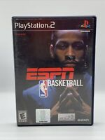 ESPN NBA Basketball w/manual Sony Playstation 2 PS2 Complete Tested Rare