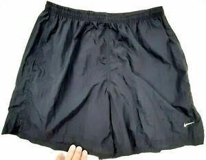 Nike Womens Athletic Nylon Shorts Size S Black Drawstring Pockets Quick Dry