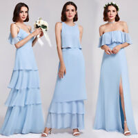 Ever-pretty Long Homecoming Dress Beach Dresses Bridesmaid Ball Prom Sky Blue