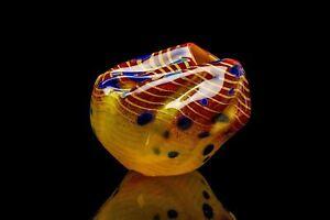 Dale Chihuly Signed Cinnamon Macchia Handblown Contemporary Glass Sculpture
