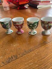 Vintage Set of Four Neiman Marcus Porcelain Egg Cups