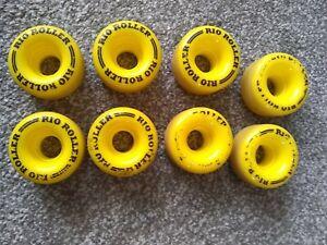 roller skate quad  wheels rio roller 62mm x 36mm full set of 8
