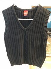 Espirit Women's Black Size Small S Cable Knit Sweater Vest Black