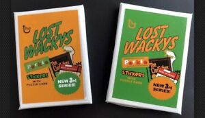 2011 RARE LOST WACKY PACK 3rd Series Sealed  2 Packs Complete Regular  Set