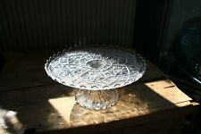 VINTAGE GLASS CAKE STAND       REF1