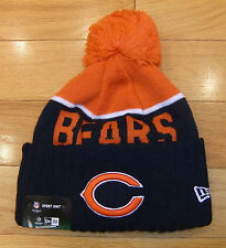 NWT NEW ERA Chicago Bears Sport Knit Fleece Lined Mens Beanie Hat-OSFM Ret@$25