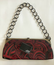 RARE AUTHENTIC VINTAGE GIANNI VERSACE COUTURE HANDBAG W/CHAIN STRAP - RED/GOLD
