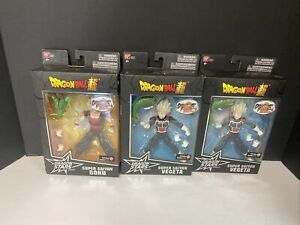 Lot Of 3 Gamestop Exclusive Bandai Dragon Stars Series Fighter Z VEGETA  SS Goku