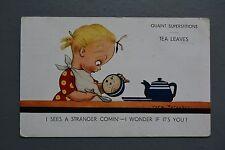 R&L Postcard: Vera Paterson Regent 225 Quaint Superstitions Tea Leaf Reading