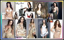 Megan Fox, Signed, Collage Cotton Canvas Image. Limited Edition (MF-2)