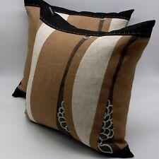 """4pcs18x18""""45x45cm throw pillow cover cushion case beige brown white black canvas"""