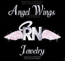 RN PIN ANGEL WINGS NURSE - MEDICAL HEALTH CARE JEWELRY NURSING FREE SHIP  PINK