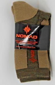 NOMAD Lightweight Hiker Merino Wool Crew Hiking Socks W Leg Logo N3000047