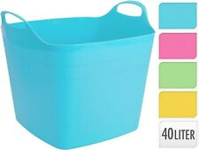 Square 40 Litre Flexi Trug Storage Tub Flexible Baskets Laundry Toy Bucket