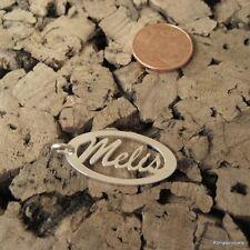 * Melis * Namensanhänger in 925er Silber, Namenskette, Anhänger, NEU