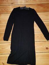 Repeat Kaschmir Kleid Cashmere+Wolle Strickkleid schwarz 36, 38
