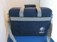 AT&T EMPTY CARRYING CASE/BAG WITH HANDLE AND SHOULDER STRAP 18L X 13.5H X 4.5W