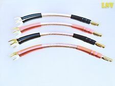 NEW VAN DAMME Hi-Fi Series LC-OFC(4mm Diameter) SPEAKER JUMPER CABLES x4(A Pair)