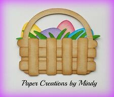Craftecafe Mindy Easter Basket  girl boy  premade paper piecing scrapbook page