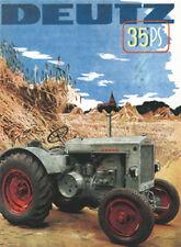 DEUTZ 35PS Traktor Blechschild 8x11 cm Blechkarte Sign PC-201/352
