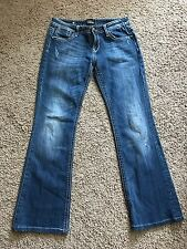 REROCK for Express Jeans 8 Boot Factory Distressed Bootcut Denim