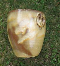 HUGE  Pottery  Flower Pot Planter  Applied Ring Handles Frankoma Desert Gold ?
